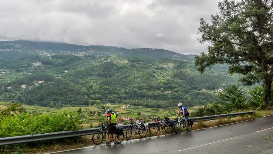 Vista panorámica en el camino de Amarante a Braga