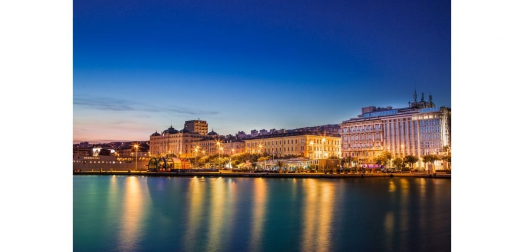 Rijeka: vista panorámica de la ciudad