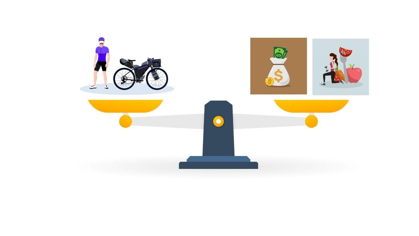 El peso en cicloturismo importa