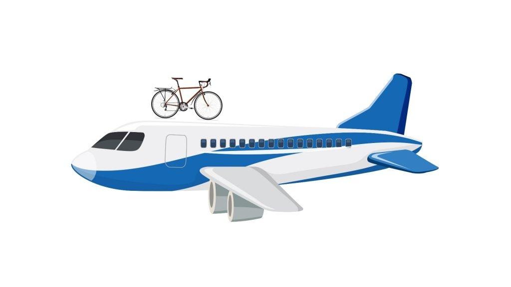 Transporte de bicicleta en avión